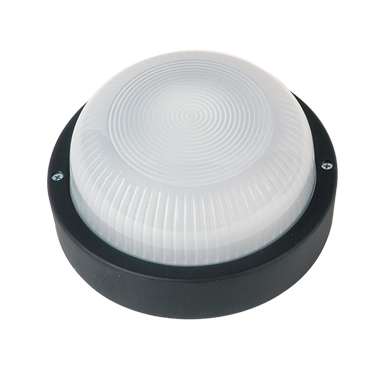 LIDO Outdoor Plastic Lighting Bulkhead, Black PN228