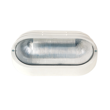 LIDO Outdoor Plastic Lighting Bulkhead, White PN225