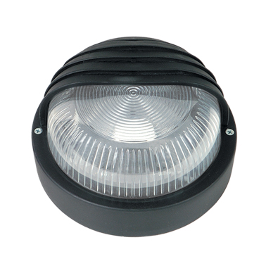 LIDO Outdoor Plastic Lighting Bulkhead, Black PN226