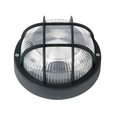 LIDO Outdoor Plastic Lighting Bulkhead, Black PN227