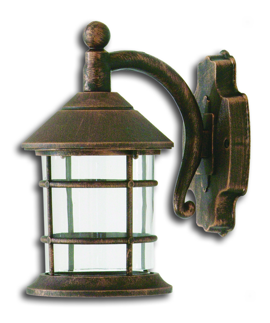 LIDO Outdoor Plastic Wall Sconce, Copper Patina Finish PN123