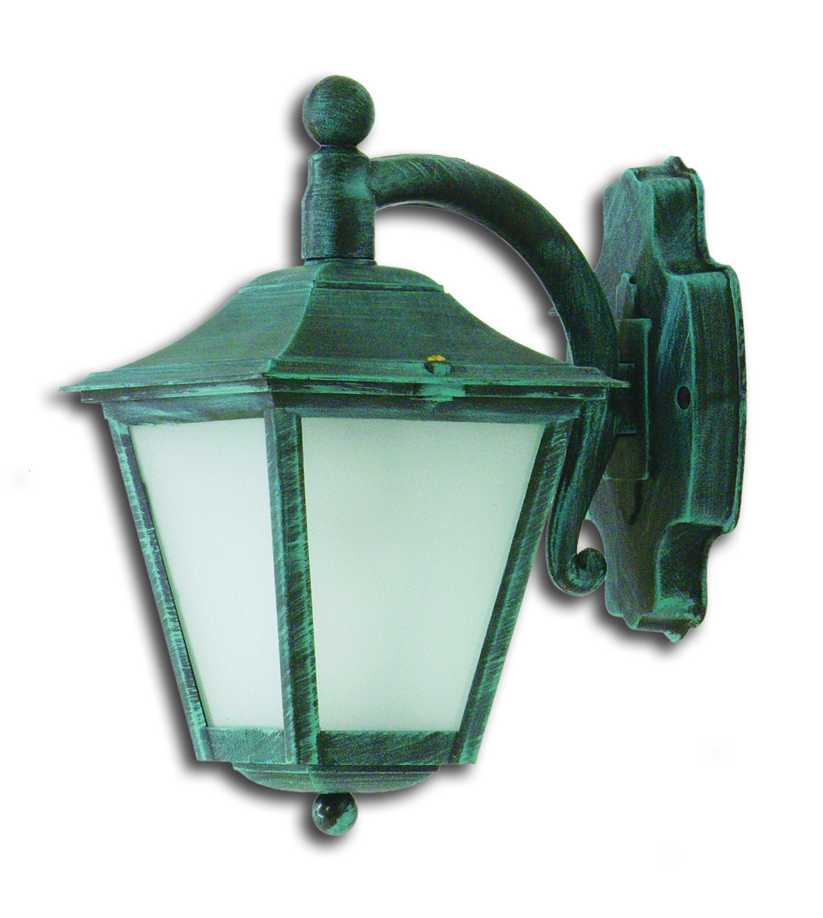 LIDO Outdoor Plastic Wall Sconce, Green Patina Finish PN186