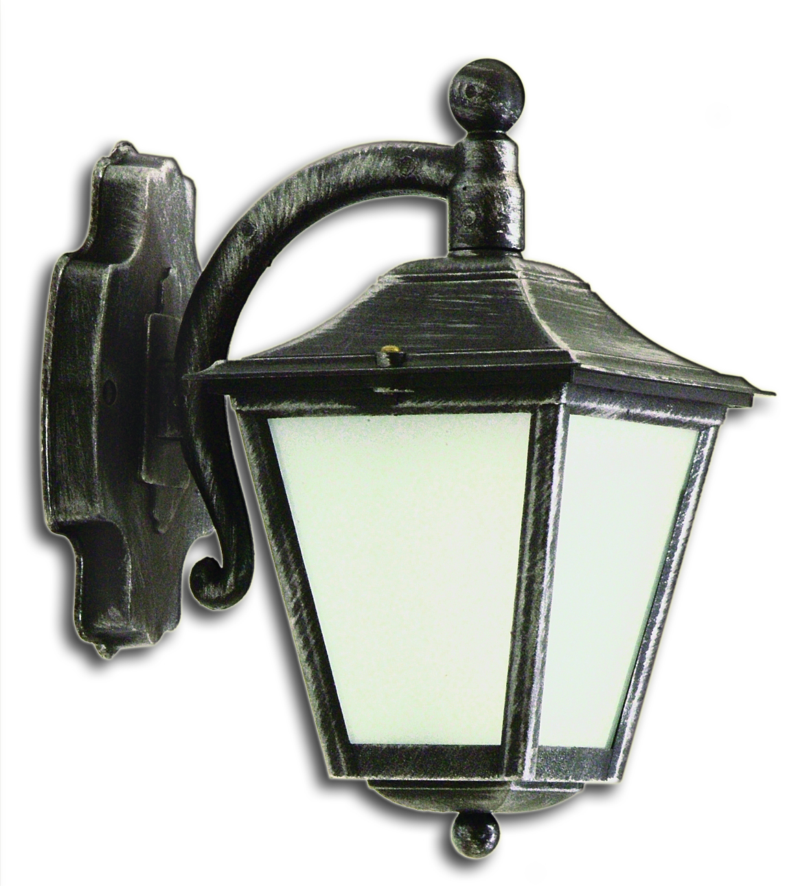 LIDO Outdoor Plastic Wall Sconce, Silver Patina Finish PN186