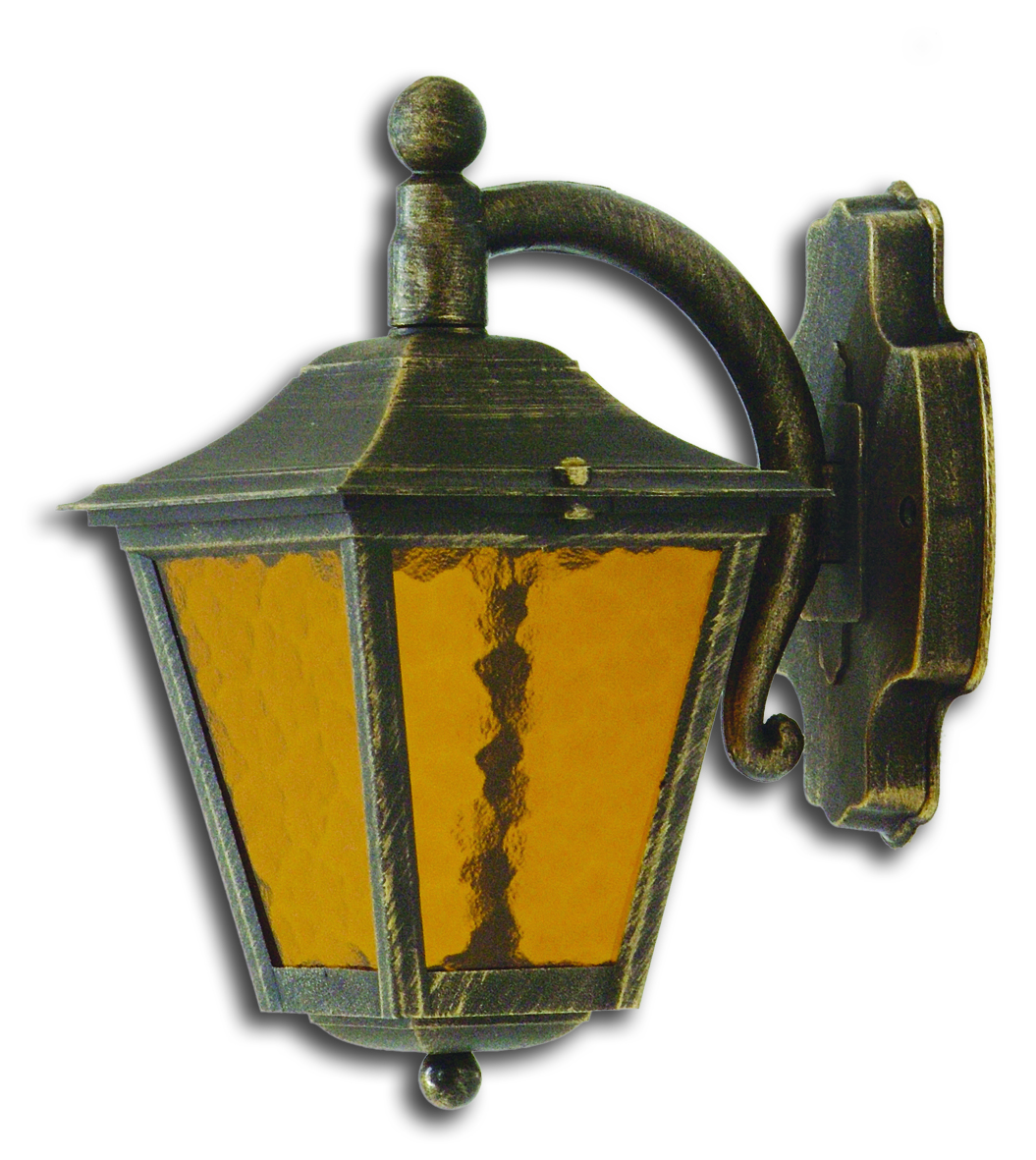 LIDO Outdoor Plastic Wall Sconce, Golden Patina Finish PN186