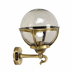 LIDO Outdoor Brass Wall Sconce, Brass Antique Finish PN489