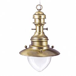 LIDO Outdoor Brass Pendant Light, Brass Antique Finish PN452