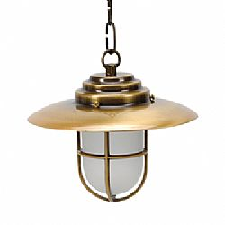 LIDO Outdoor Brass Pendant Light, Brass Antique Finish PN4554