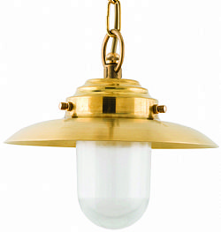 LIDO Outdoor Brass Pendant Light, Brass Antique Finish PN4564