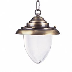 LIDO Outdoor Brass Pendant Light, Brass Antique Finish PN4284