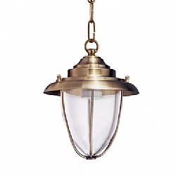 LIDO Outdoor Brass Pendant Light, Brass Antique Finish PN4274