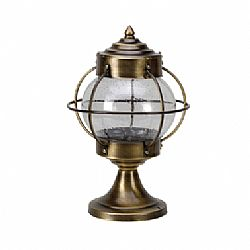 LIDO Outdoor Lighting Post, Solid Brass, Brass Antique Finish PN447 30CM