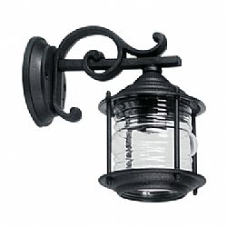 LIDO Outdoor Plastic Wall Sconce, Black Finish PN115