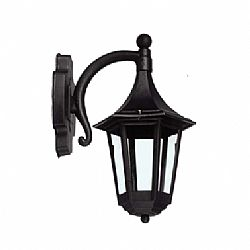 IDO Outdoor Plastic Wall Sconce, Black PN189