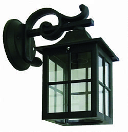 LIDO Outdoor Plastic Wall Sconce, Black, Clear Glass PN145K-1