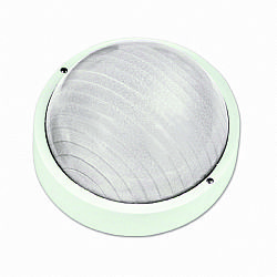 LIDO Outdoor Plastic Lighting Bulkhead, White PN204