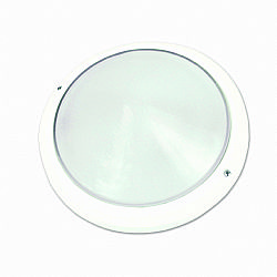LIDO Outdoor Plastic Lighting Bulkhead, White PN200